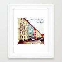 denmark Framed Art Prints featuring Copenhagen Denmark by ©valourine