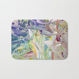 Abstracted Spring Iris Bath Mat