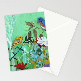 Find Joy Garden  Stationery Cards