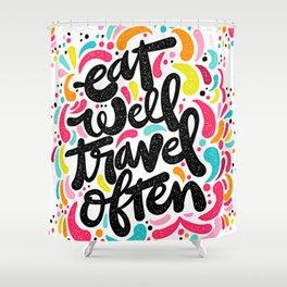 EAT & TRAVEL Shower Curtain