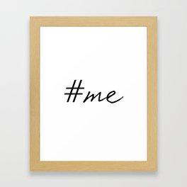 Hashtag Me Framed Art Print