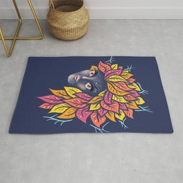 Ghostly Alien Mother Nature Rug