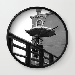 Gondolier in Venice Wall Clock