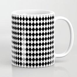 mini Black and White Mini Diamond Check Board Pattern Coffee Mug