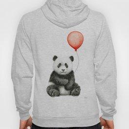 Baby Panda and Red Balloon Hoody