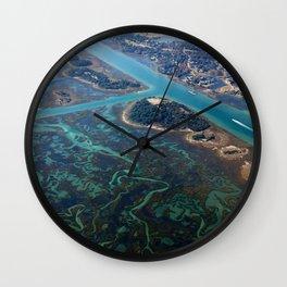 Aerial Photograph   Intracoastal Waterway   Wilmington North Carolina Wall Clock
