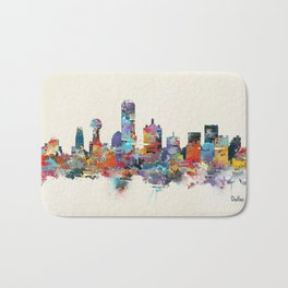 dallas texas skyline Bath Mat