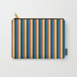 zakiaz blue yellow orange stripe Carry-All Pouch