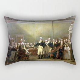 General Washington Resigning His Commission Rectangular Pillow