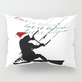 Let It Blow Christmas Holiday Kitesurfing Activity Pillow Sham