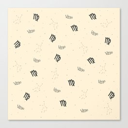 Virgo Pattern - Beige Canvas Print