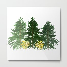 Oregon Pine Trees Metal Print