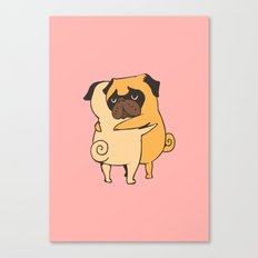 Pug Hugs Canvas Print