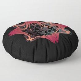 RED X BLACK GRAPHIC DECOR Floor Pillow