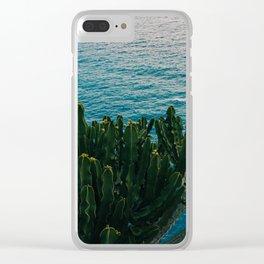 Amalfi Coast Cactus II Clear iPhone Case