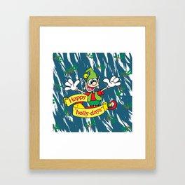 "Happy ""Holly-days"" Framed Art Print"