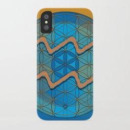 Flower of Life AQUARIUS Astrology Design iPhone Case