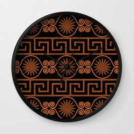 Ornate Greek Bands Wall Clock