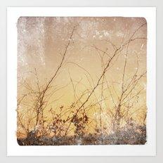 sea plants (gold) Art Print