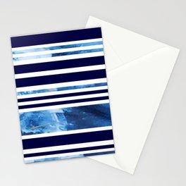 Indigo Modern Stripes Stationery Cards