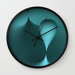 the color turquoise Wall Clock
