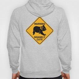 Warning! Insanely Cute - Funny Koala Bear Road Sign Hoody