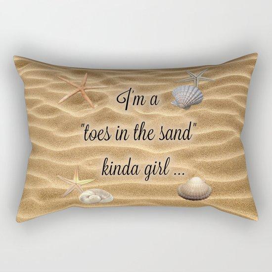 Toes In The Sand Kinda Girl Rectangular Pillow