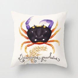 Crab II: Halloween Crab Throw Pillow