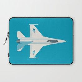 F-16 Falcon Fighter Jet Aircraft - Cyan Laptop Sleeve