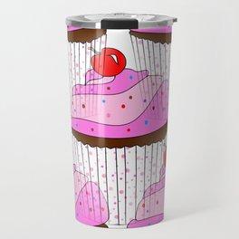 Sprinkle Cupcake Pattern Travel Mug