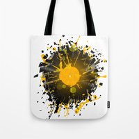 paramore Tote Bags featuring Don't Destroy the Vinyl by Sitchko Igor