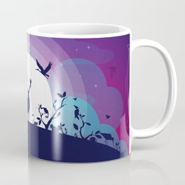 Forest Animals Gathering in the Moonlight Coffee Mug