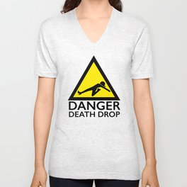 Danger Death Drop Unisex V-Neck