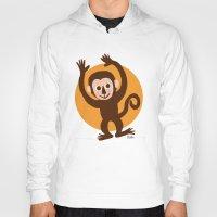 monkey Hoodies featuring Monkey by BATKEI
