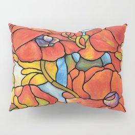 Red Poppy Lamp Pillow Sham