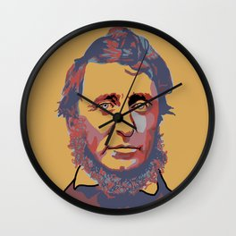 Henry David Thoreau Wall Clock