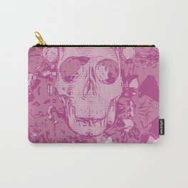 Pink Skull Carry-All Pouch