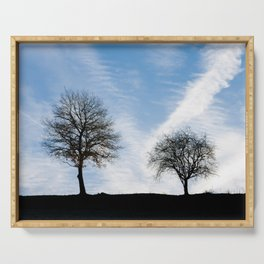 Two Trees In Autumn Serving Tray
