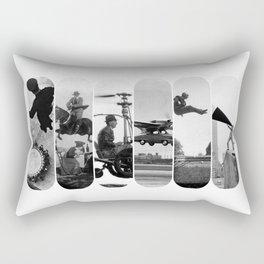 photo montage dans les airs Rectangular Pillow
