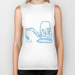 Mechanical Digger Mono Line Biker Tank