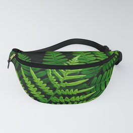 Fern Fronds on Black Fanny Pack