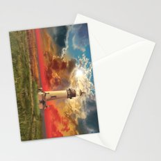 lighthouse landscape Stationery Cards
