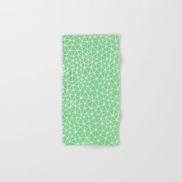 Connectivity - White on Mint Green Hand & Bath Towel