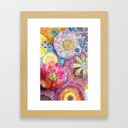 Flowered Table Framed Art Print