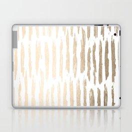 White Gold Sands Vertical Dash Laptop & iPad Skin
