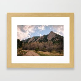 Flatirons Sunset Framed Art Print