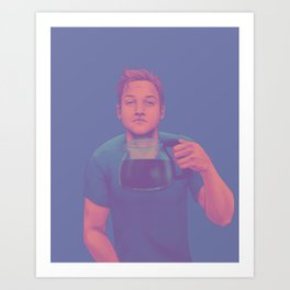 Aw, coffee, no Art Print