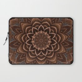 Mandala Brown Zen Spiritual Bohemian Hippie Festival Yoga Mantra Meditation Laptop Sleeve