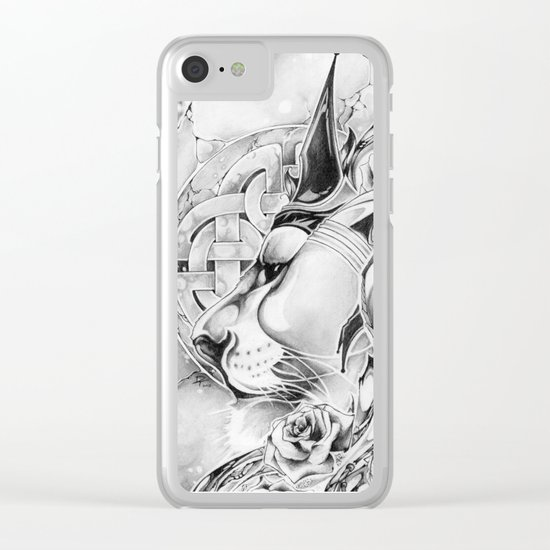 King of Roses Clear iPhone Case