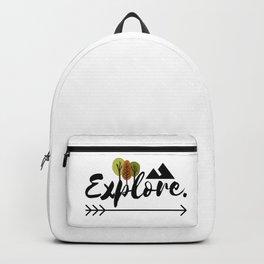 05AV01   Explore   Adventure lover   Quote   Digital Art   Artist Amiee Backpack